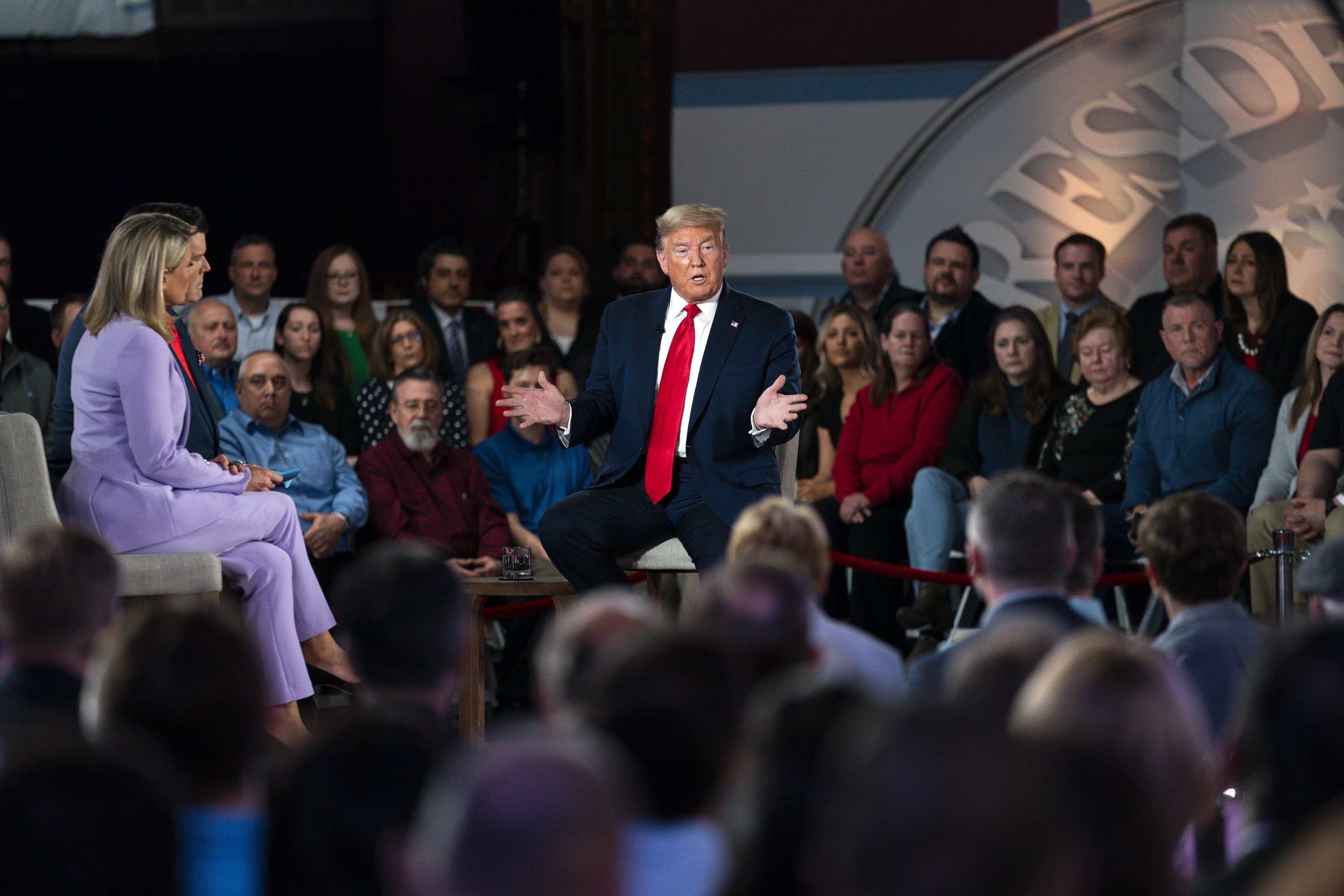Trump Defends His Rhetoric In 1st Tv Town Hall Of 2020