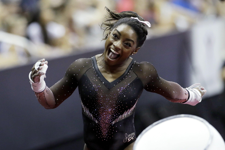 Simone Biles Soars Gymnastics Title