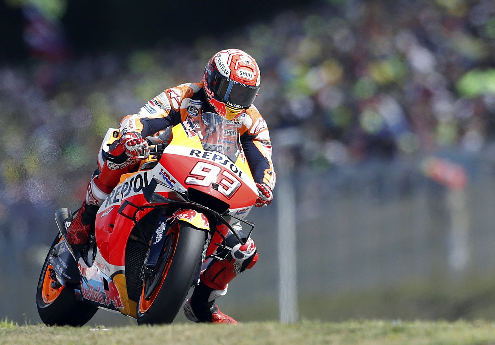 Honda rider Marquez takes Austrian GP pole with track record