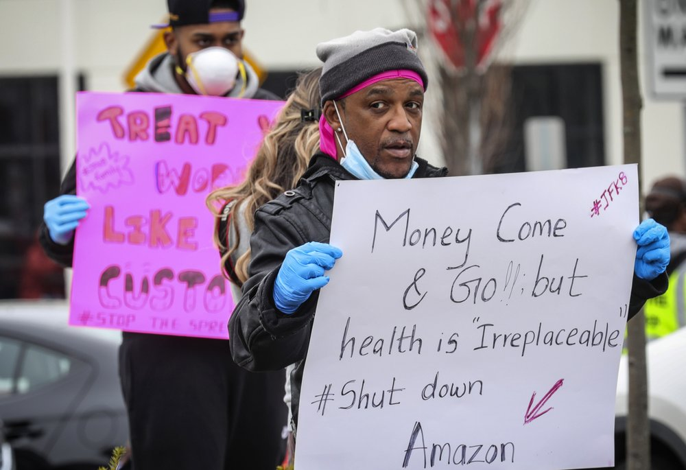 Workers strike demanding a safer work environment