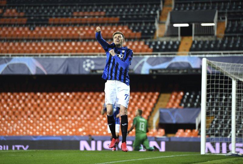 ilicic scores 4 as atalanta reaches champions league qfs atalanta reaches champions league qfs