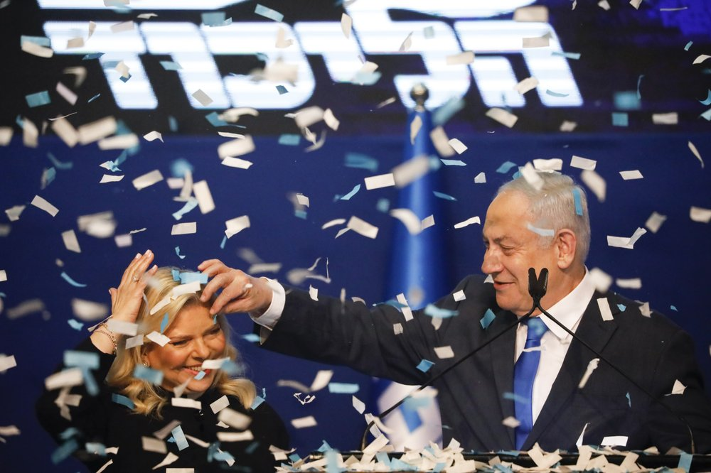 Despite giant victory capturing 59 seats it is still unclear whether Benjamin Netanyahu could secure a parliamentary mjority as he prepares to go on trial for corruption charges