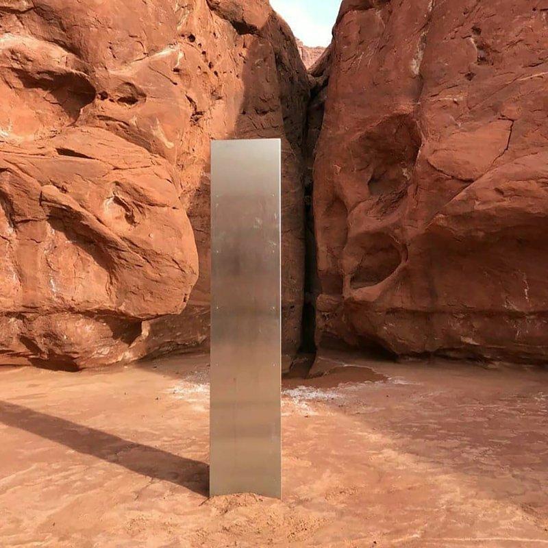 gewblawj6fx9nm https apnews com article mysterious monolith in utah desert b7bbb9d162bbd2df99d53f3146ff261e