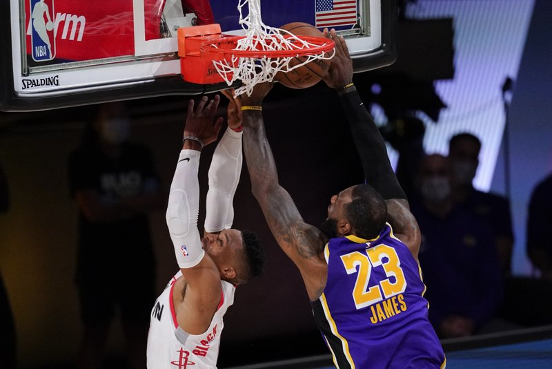 Rockets Run Away From No 1 Seed Lakers Take Game 1 112 97