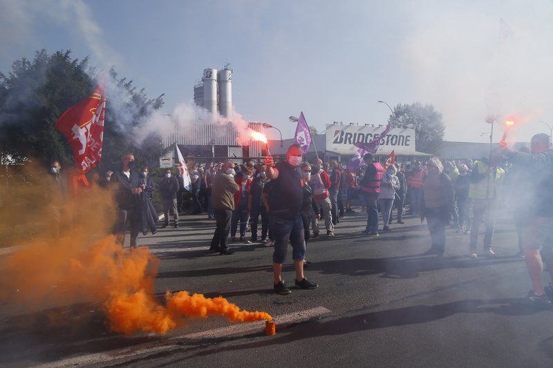 French Unions Protest Tire Factory Closure Amid Virus Crisis