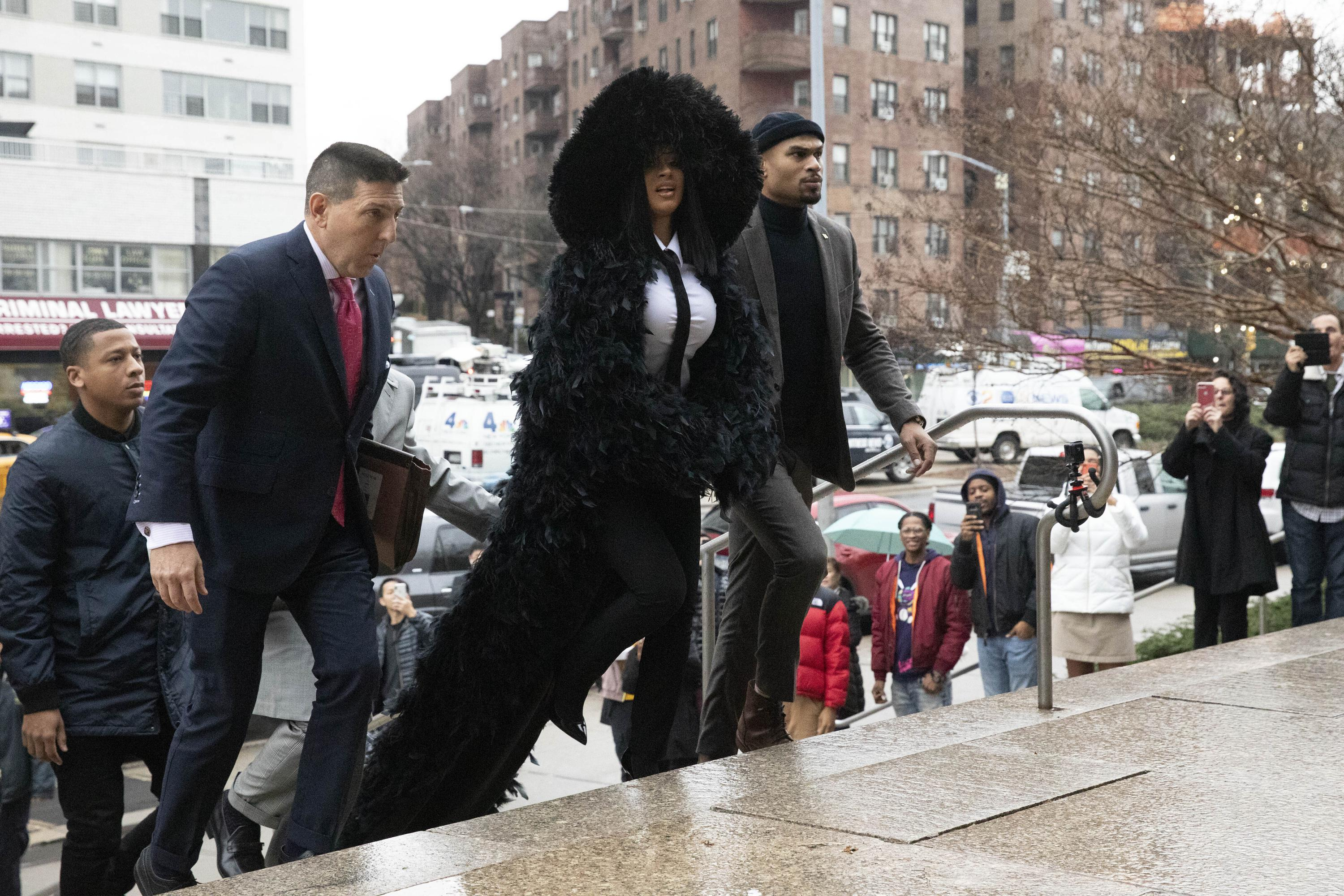Cardi B shows up at court in style for strip club fight case