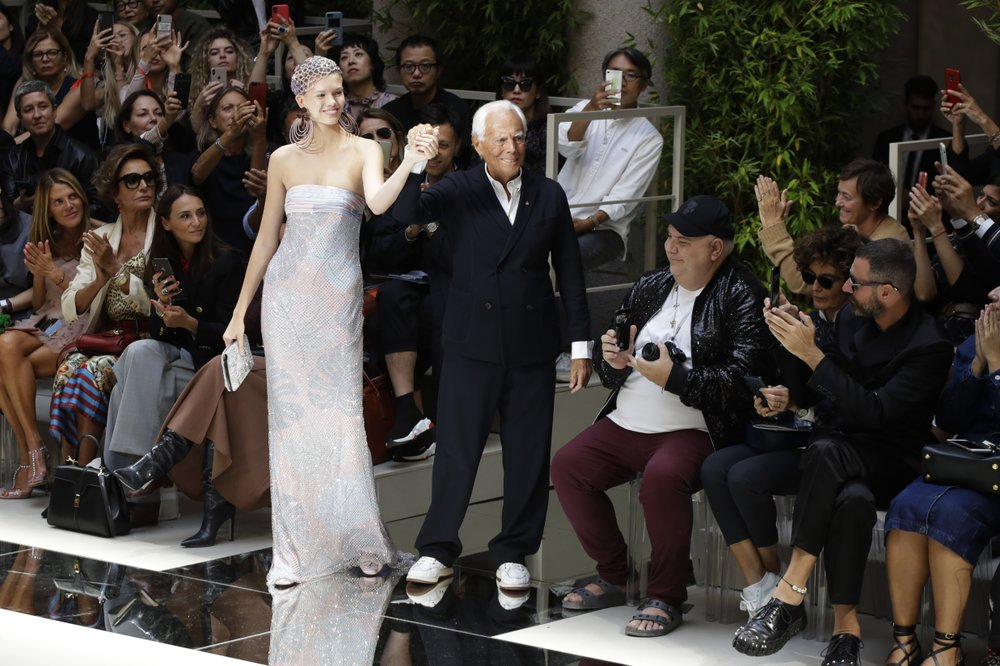 Armani explores connection with nature in ethereal looks