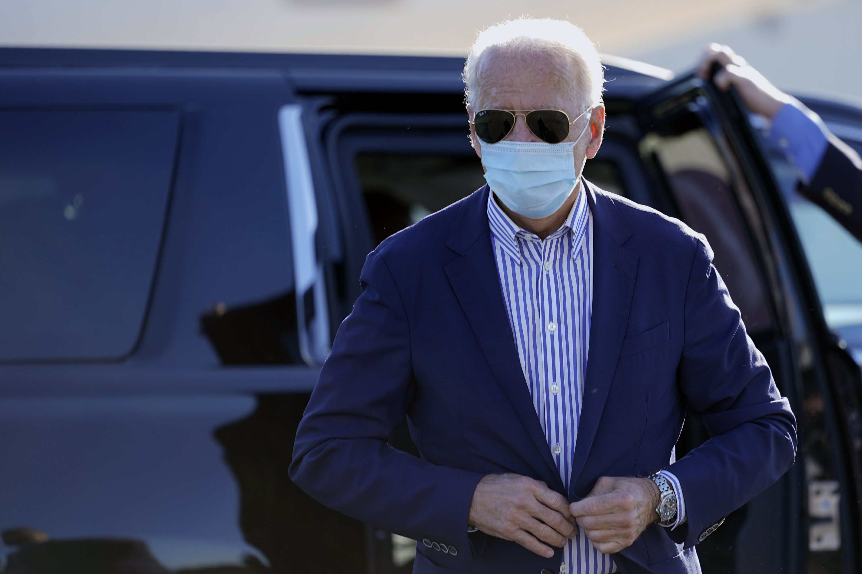 The Latest: Biden's latest coronavirus test is negative