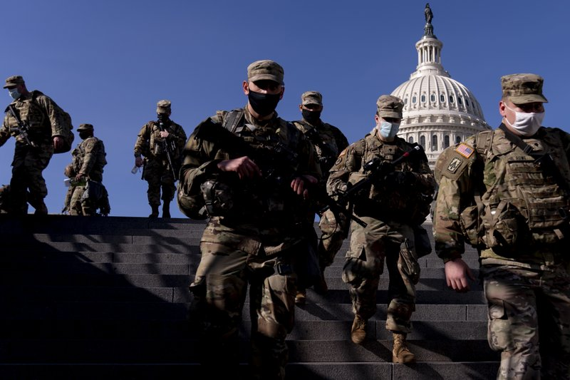 Up to 25,000 Troops Deployed to Washington, D.C., for Biden's Inauguration