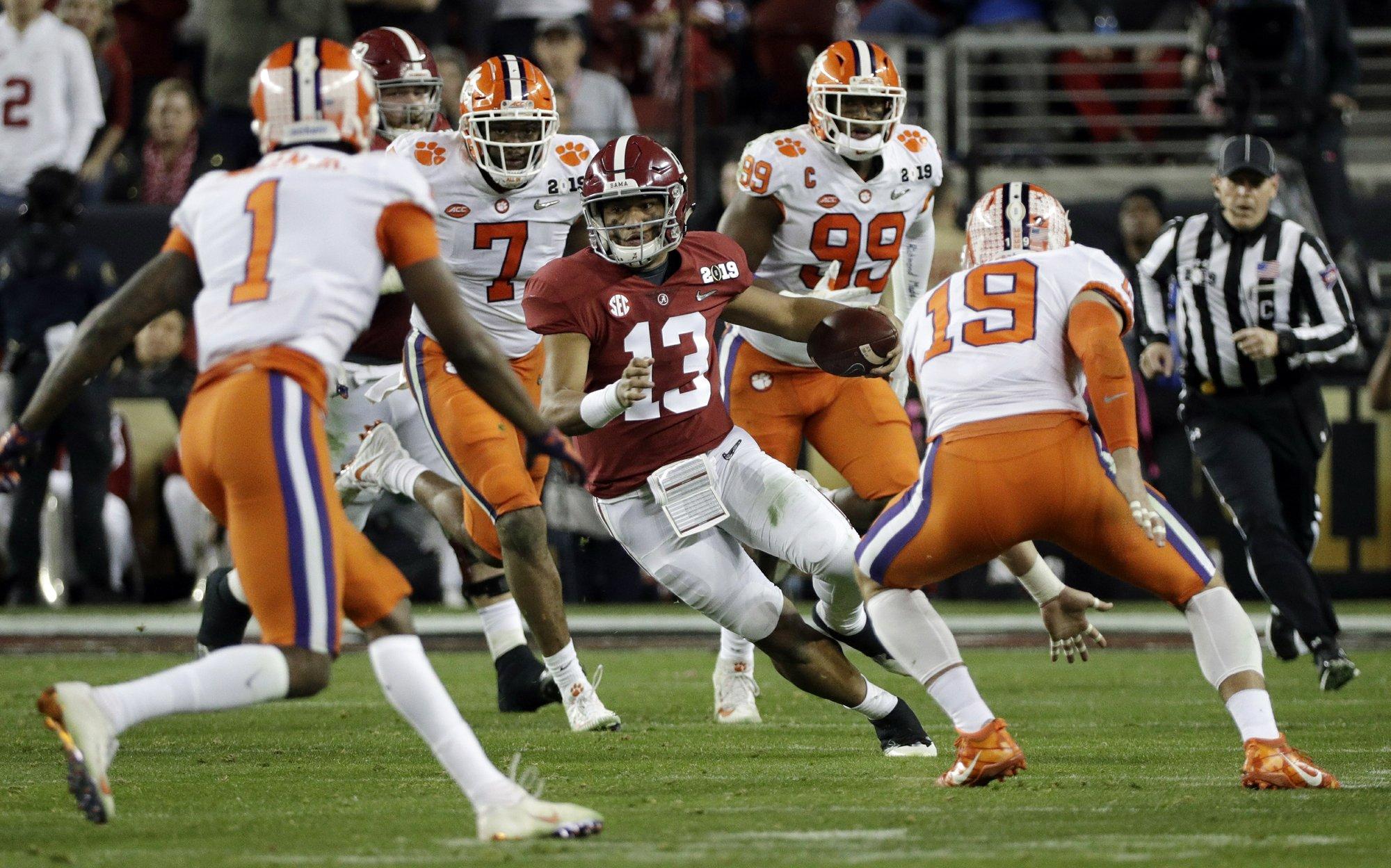 Alabama QB Tagovailoa absorbs lessons from title game