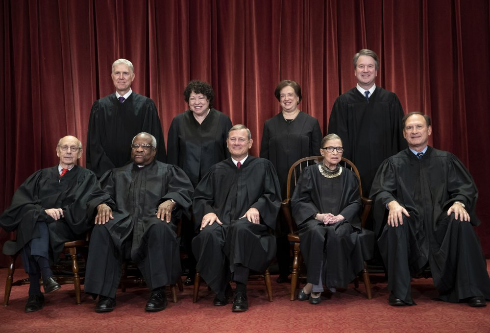 "A peek into our ""new"" Supreme Court as the coronavirus pandemic plague has forced the tradition-bound Supreme Court into making some big changes"
