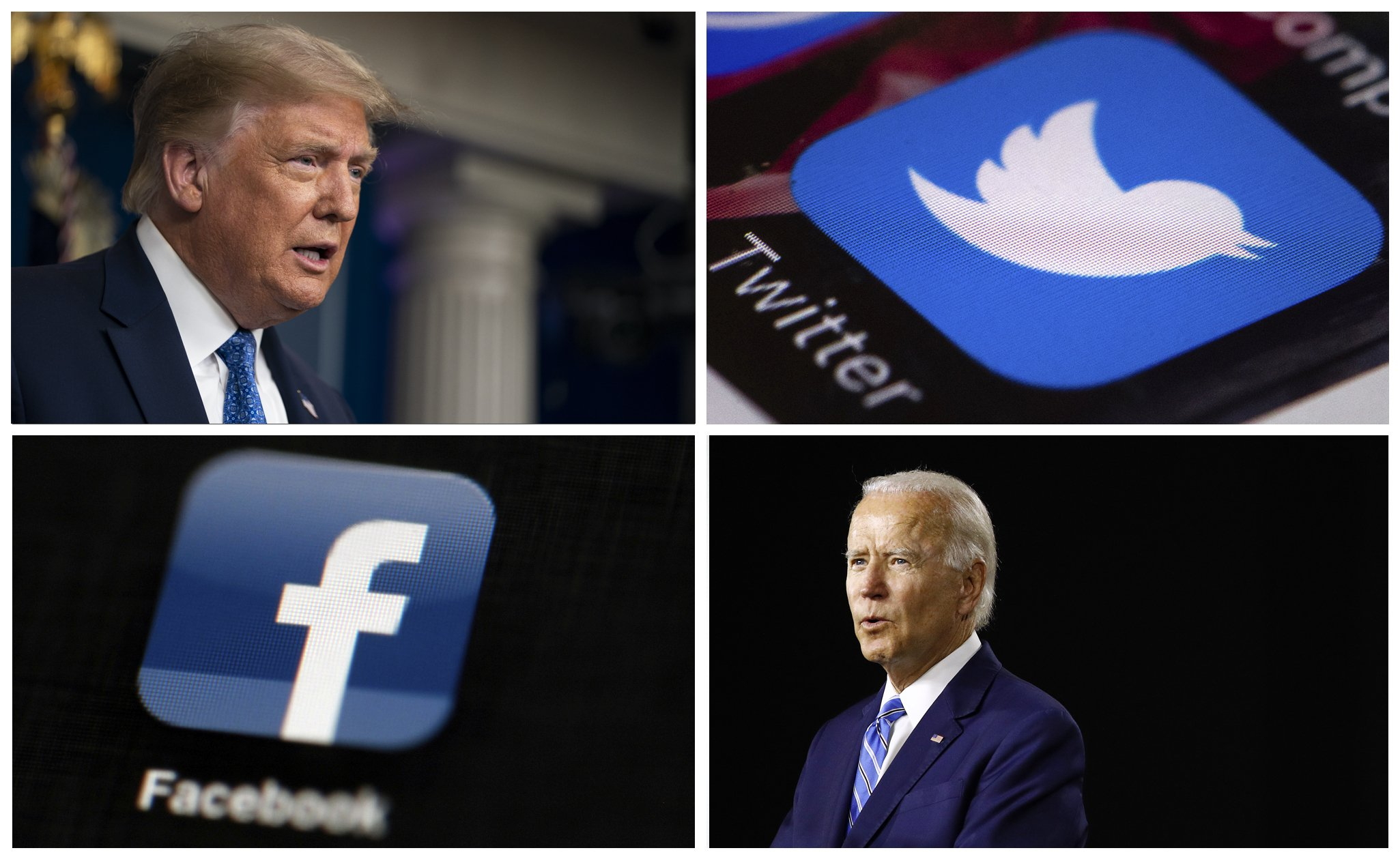 Twitter And Facebook Become Targets In Trump And Biden Ads