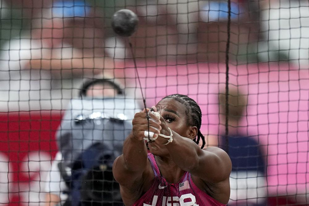 U.S. Hammer Thrower Gwen Berry Says 'I'm Just Here to Represent' After Raising Her Fist at Tokyo Olympics
