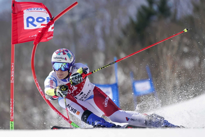 Croatia's Zubcic wins men's World Cup giant slalom in Japan