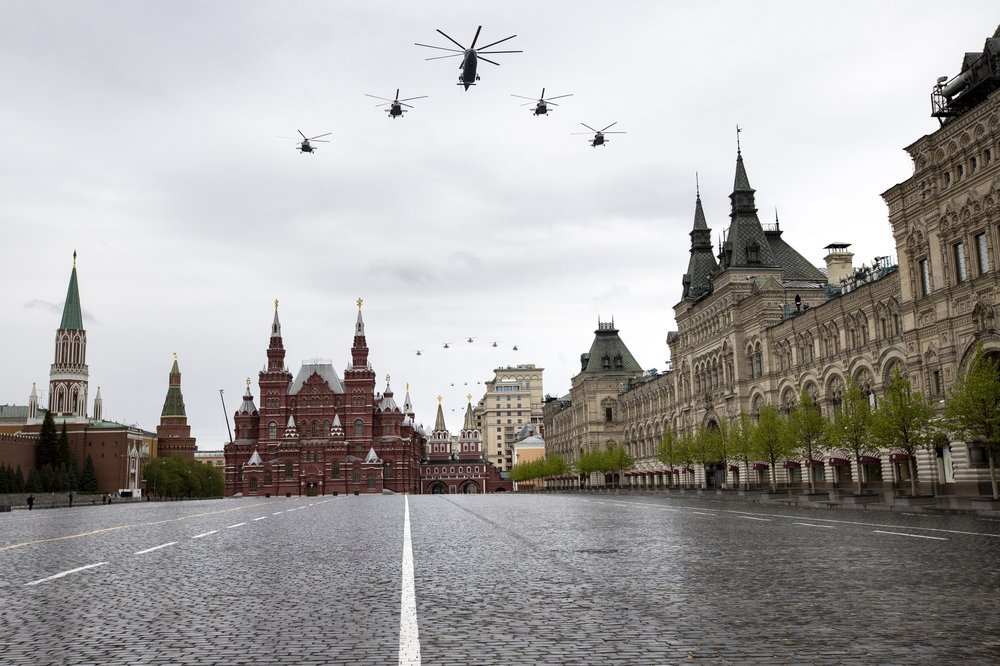 Putin marks Victory Day in virus-reduced ceremony