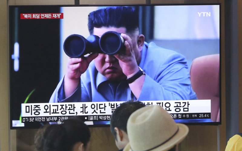 NKorea fires projectiles twice into sea; 4th weapons test in less than 2 weeks