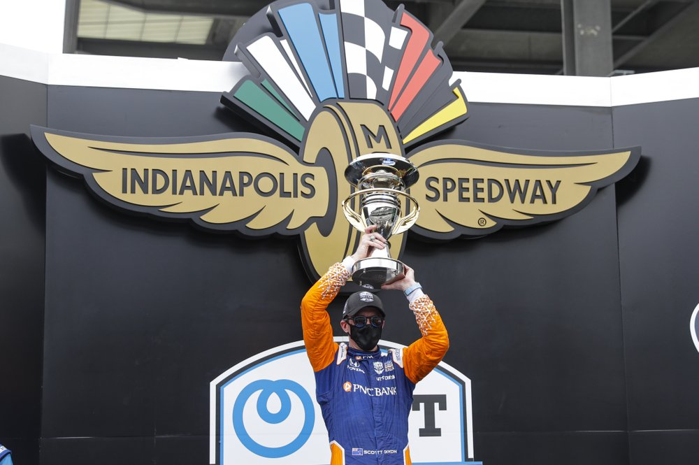 Scott Dixon makes a second trip to victory lane at Indianapolis Motor Speedway