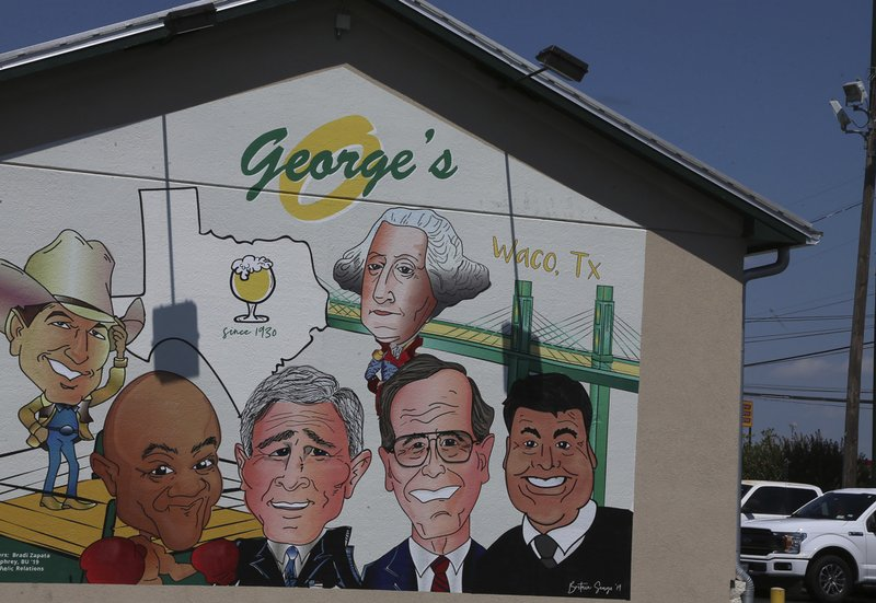Texas Restaurant With Famous Men Named George Changes Mural