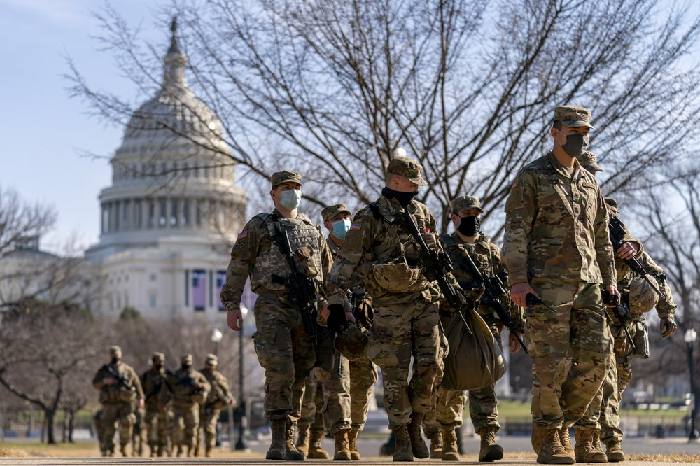 21,000 National Guard troops approved for DC; man with confederate flag arrested