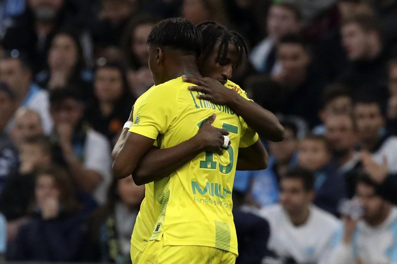 Bamba stars as Nantes wins at 2nd-place Marseille 3-1
