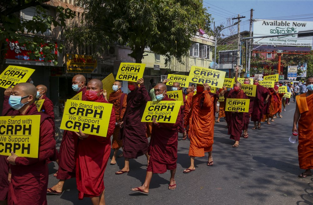 Myanmar police deploy early to add pressure on protesters