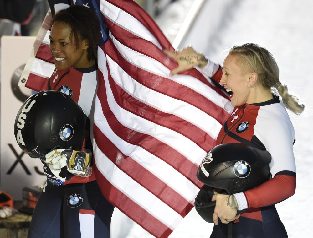 A champion, again: Humphries wins 3rd women's bobsled title