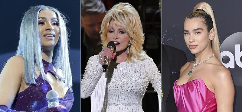 Cardi B, Dolly Parton, Dua Lipa to be honored by Billboard