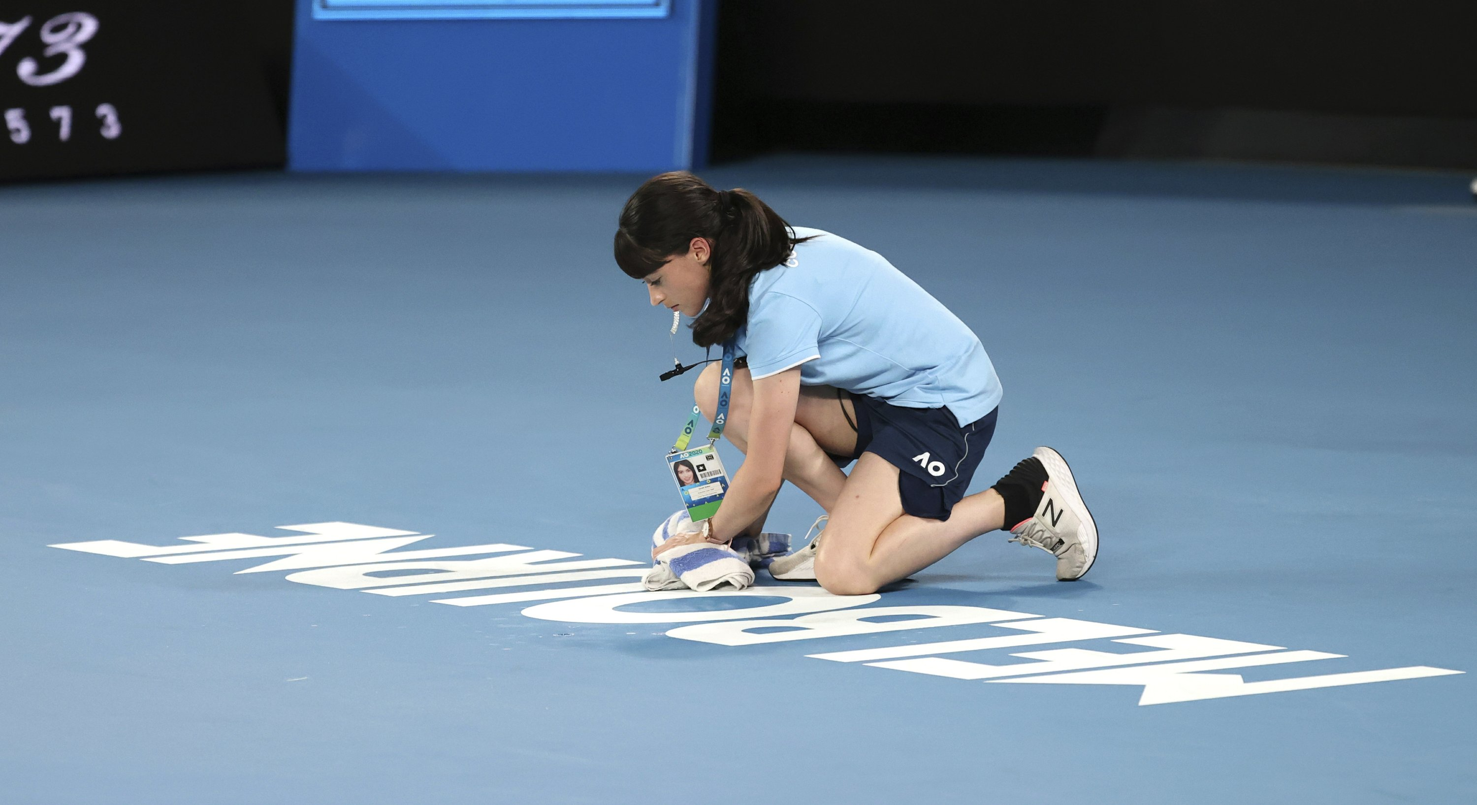 The Latest Leaky Roof On Rod Laver Has Ball Kids Mopping Up
