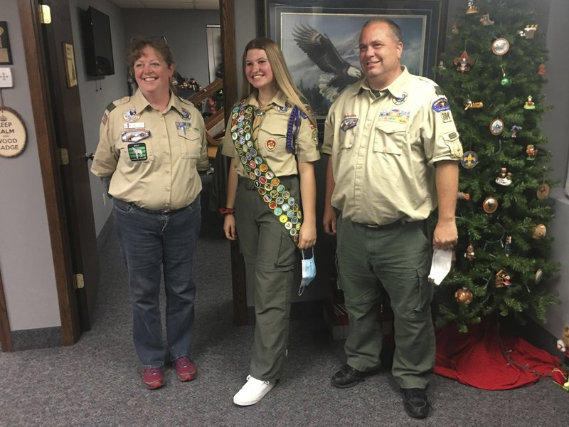 Boy Scouts honor the first group of female Eagle Scouts