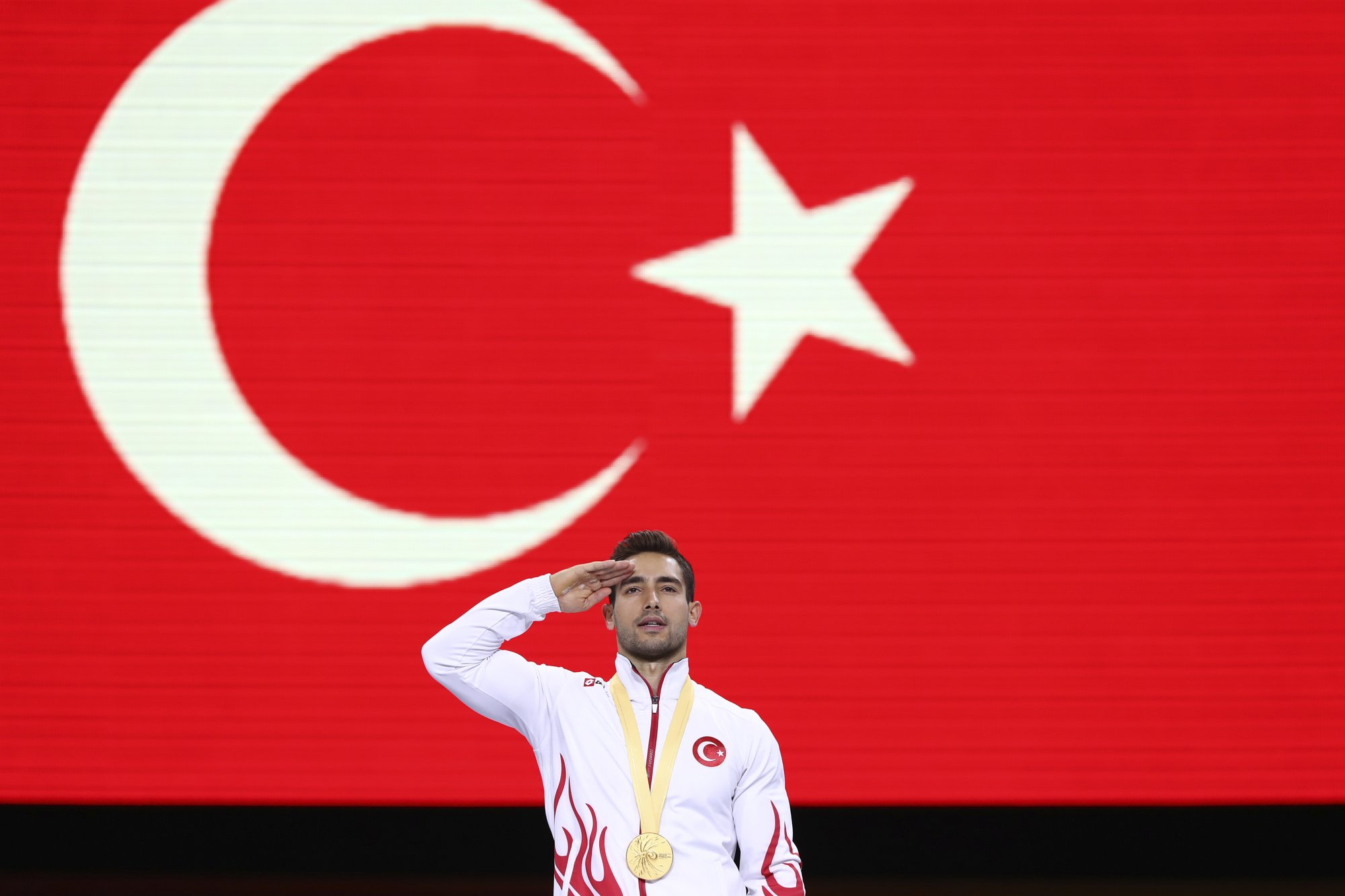 Turkish gymnast's salute could prompt rule change