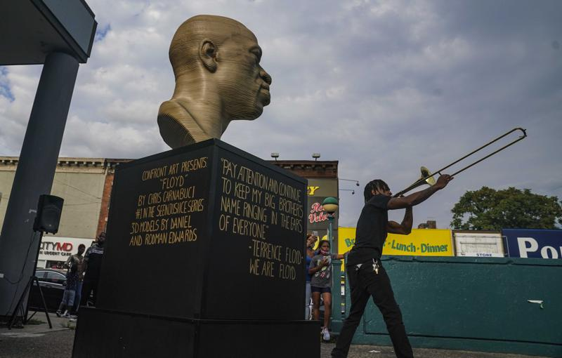 George Floyd Statue in Brooklyn to be Moved to Manhattan After Vandalism