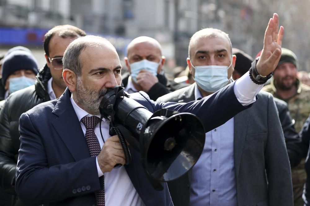 Armenian PM under pressure to resign, talks of coup