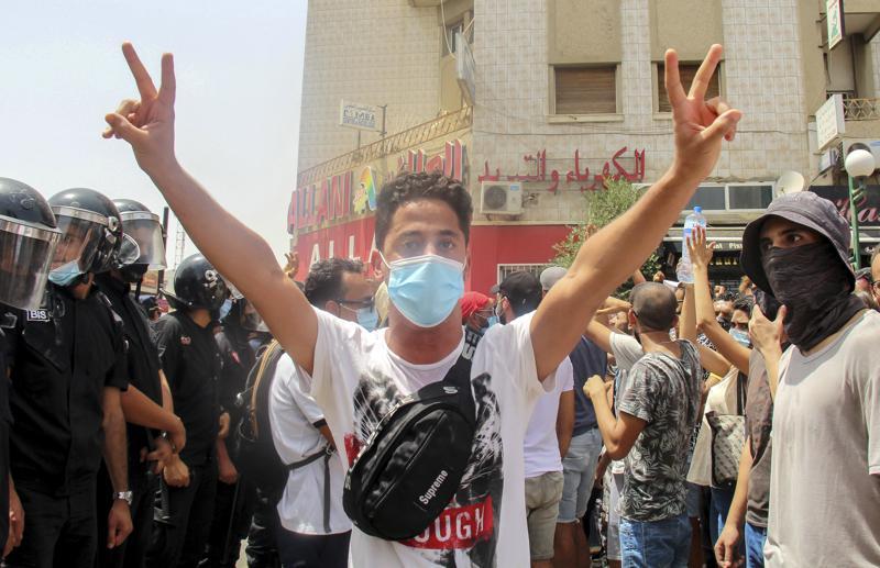 tunisia,President Kais Saied,coronavirus,Tunisian president fires premier after violent protests,harbouchanews