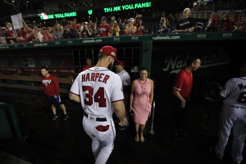 finest selection 9b9a0 de52e Nats have done work, but Bryce Harper looms over offseason