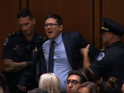 Chaos marks start of Kavanaugh hearing
