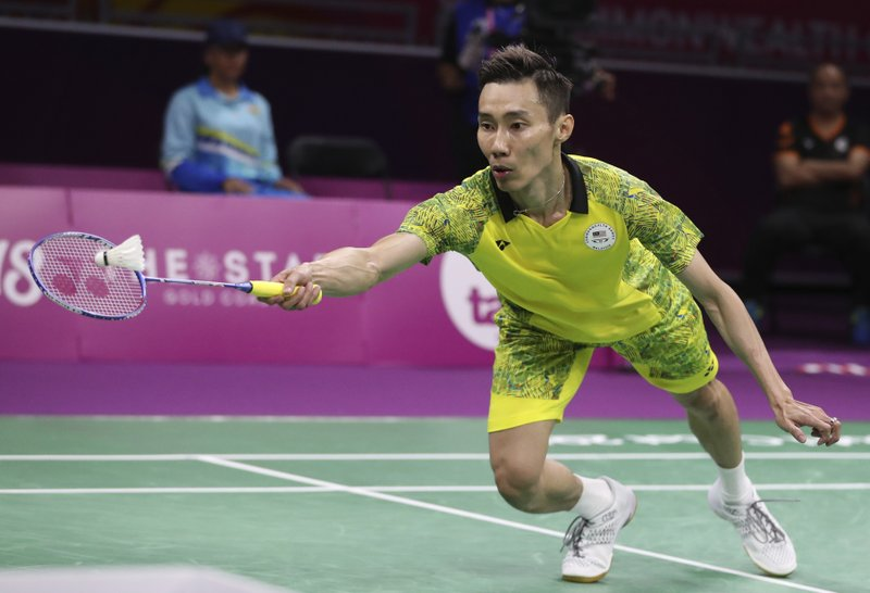 Image result for Lee Chong Wei vs Srikanth Kidambi - Men's singles final at the 2018 Commonwealth Games
