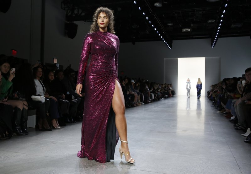 Tadashi Shoji ups the glam in lace, sequin and velvet gowns