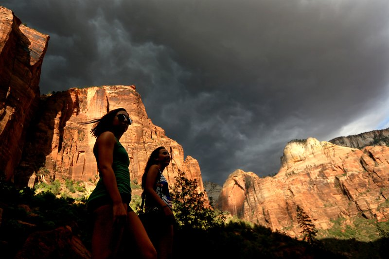 Monsoon Storm in Zion National Park