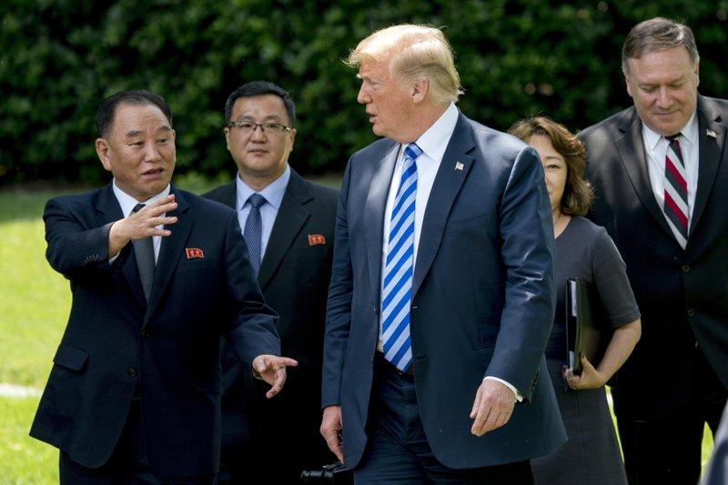 Donald Trump, Kim Yong Chol, Mike Pompeo