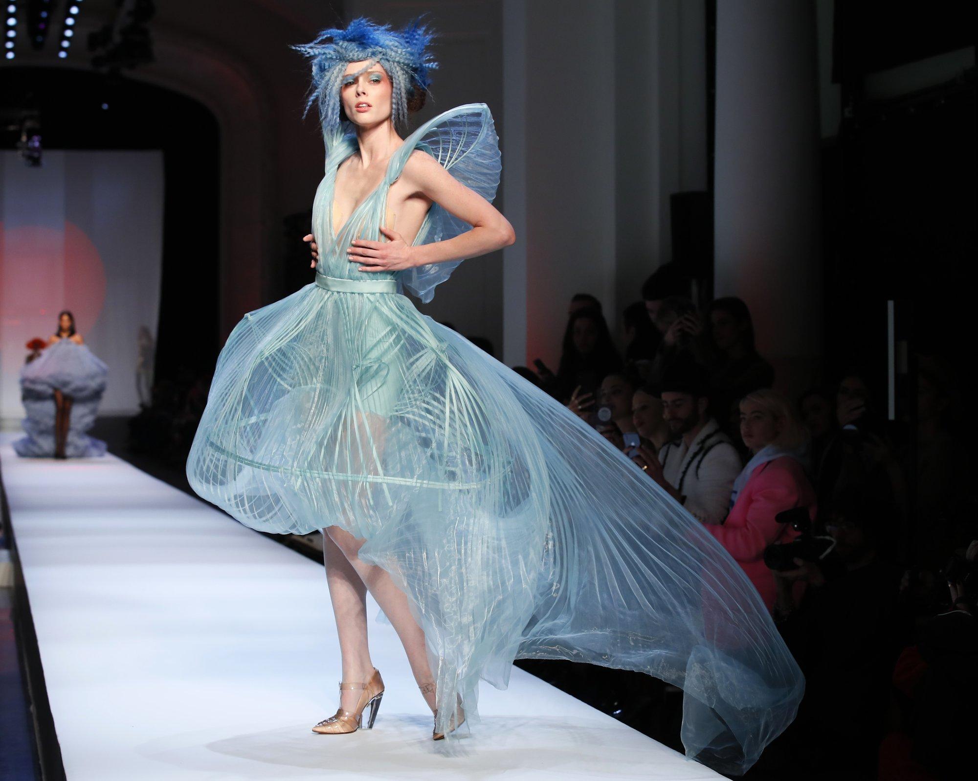 c6ca1947c8 Valentino s dramatic Paris couture has Celine Dion weeping