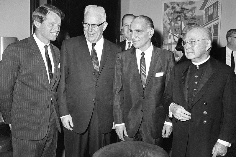 Robert F. Kennedy, Earl Warren, Anthony J. Travia, Francis Cardinal Spelmman,