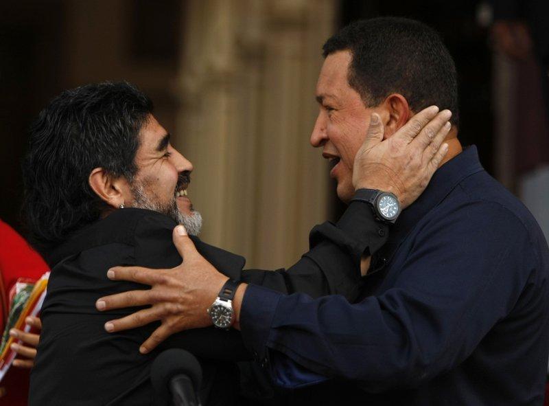 Hugo Chavez, Diego Armando Maradona