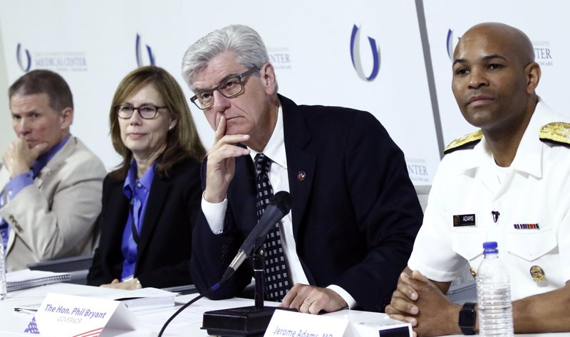 Jerome Adams, Phil Bryant, Mary Currier, Marshall Fisher