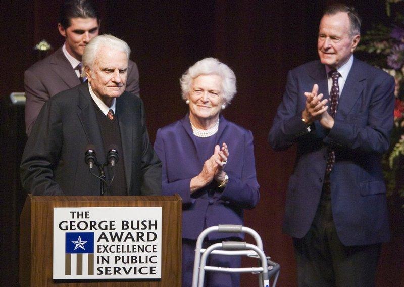 Billy Graham, Barbara Bush, George Bush