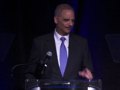 Eric Holder Pays Tribute to MLK