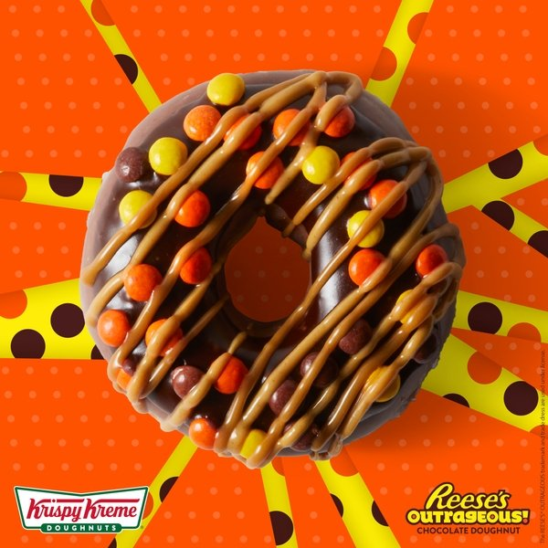 This is Outrageous! Krispy Kreme Doughnuts Introduces 'Reese's Outrageous Doughnut'