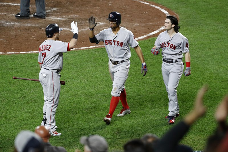c1b4379a56a Benintendi s single in 11th sends Red Sox over Orioles 10-8