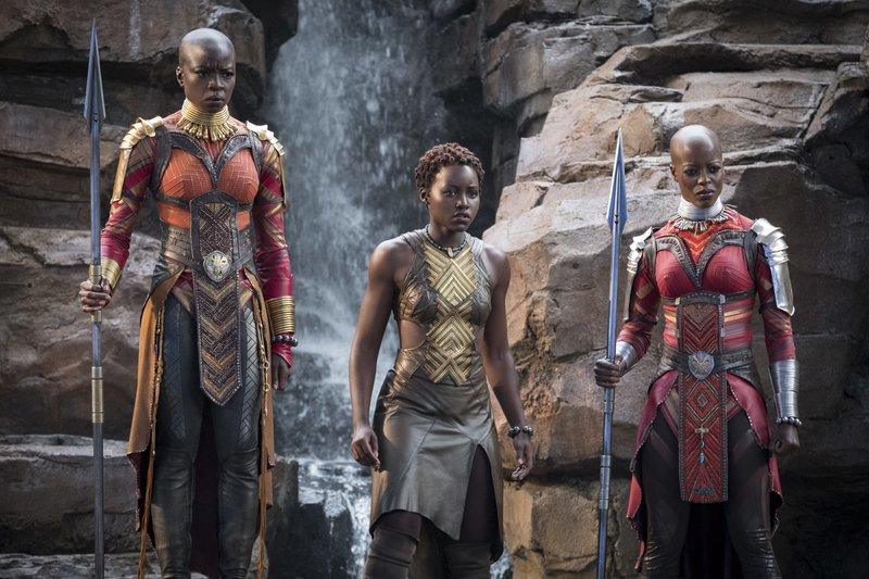Danai Gurira, Lupita Nyong'o, Florence Kasumba