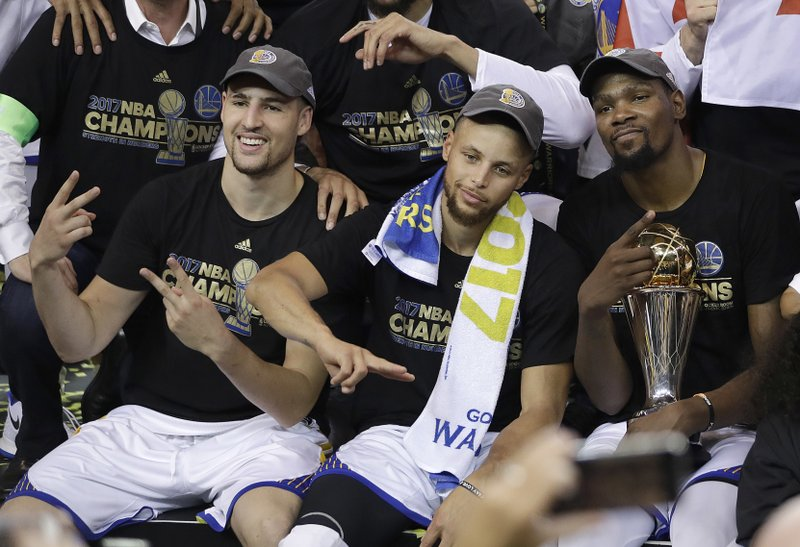 Klay Thompson, Stephen Curry, Kevin Durant