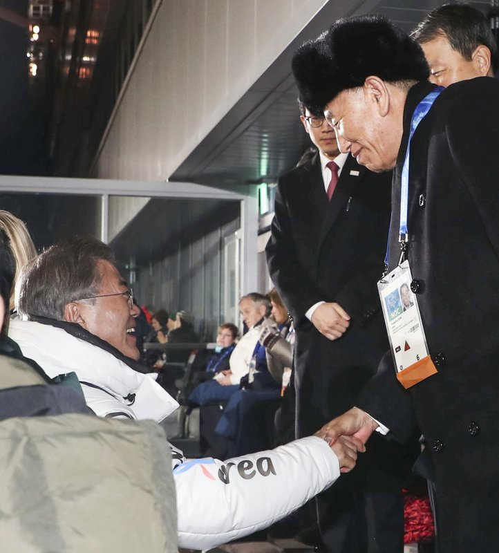Moon Jae-in. Kim Yong Chol